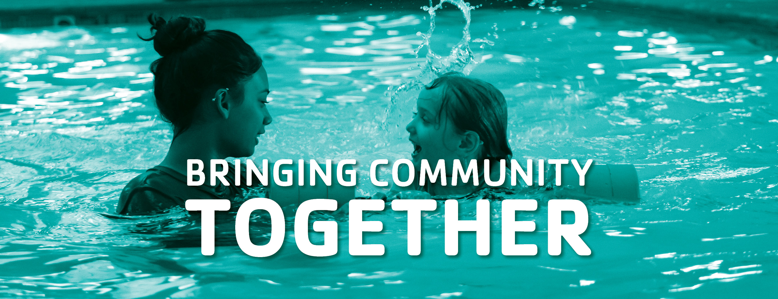 A child is taking swimming lessons at the YMCA of the East Valley. Bringing community together.
